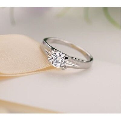 100% QualitäT Ring Edelstahl Vergoldet Neu Zirkon Damenringe Eheringe Verlobungsringe Schmuck Neueste Technik