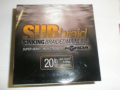 Sinking Braided Mainline Carp Coarse Fishing Korda SUBbraid