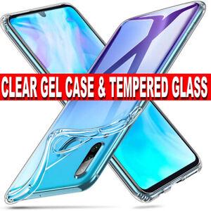 Coque-pour-Huawei-P30-Lite-Slim-Antichoc-Clair-Gel-Housse-de-Protection-d-039-ecran-verre