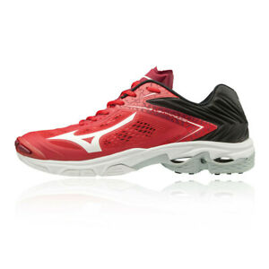 Mizuno-Hommes-Wave-Lightning-Z5-Chaussures-De-Sport-En-Salles-Baskets-Rouge