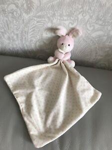 Marks-Spencer-Rosa-Blanco-Estrellas-Conejo-de-juguete-suave-felpa-Edredon-Frazada-M-amp-S