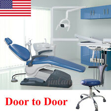 Dental Unit Chair Hard Leather Computer Controlled Dc Motorampstool Handpieces