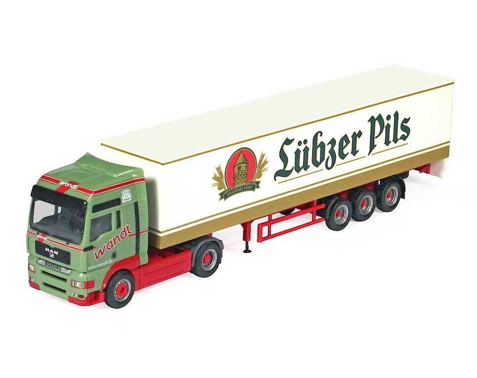 1 87 Herpa - Wandt  Lübzer Pilsener  - MAN TG-A XXL - Koffer-SZ  | Elegantes und robustes Menü
