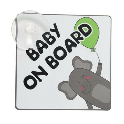 """/""""Baby on Board/""""-Schild mit Elefantenmotiv 1 Stück von Norauto"""