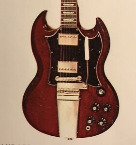 Details about 1968 Gibson SG Standard Dealer Sheet