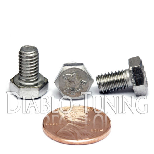 M6-1.0 x 10mm - Qty 10 - DIN 933 HEX CAP BOLT / Screw - Stainless Steel A2-70