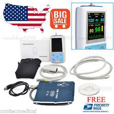 FDA CE PM50 Portable Patient Monitor Vital Signs NIBP SPO2 Pulse Rate Meter,USA