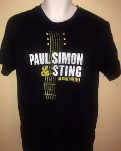 PAUL-SIMON-STING-ON-STAGE-TOGETHER-TOUR-2014-LARGE-T-SHIRT-ROCK-OUT-OF-PRINT