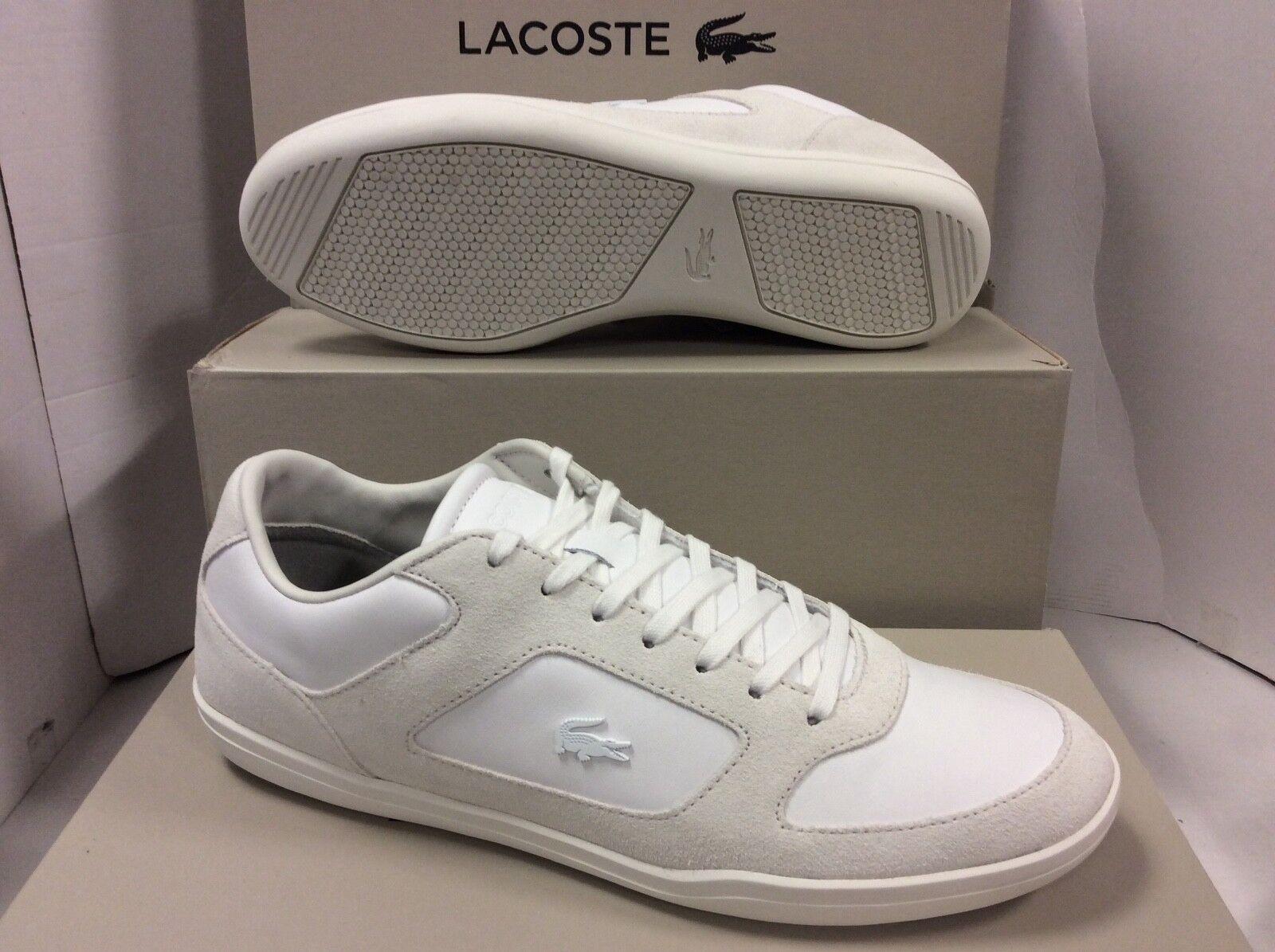 Lacoste Tribunal mínima 316 De Cuero Para Hombre Zapatillas Zapatos, Talla UK 12 EU 47
