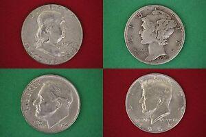MAKE OFFER Half Standard Pound 1964 Kennedy Franklin Mercury Roosevelt Silver
