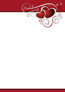 motivpapier briefpapier rote herzen hochzeit love liebe einladung, Einladungen