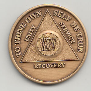 41 XLI Years Alcoholics Anonymous recovery medal token chip coin