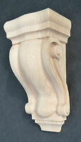 Hand Carved, Solid Oak Wooden Scroll Style Corbel / Bracket Support, 8 X 4