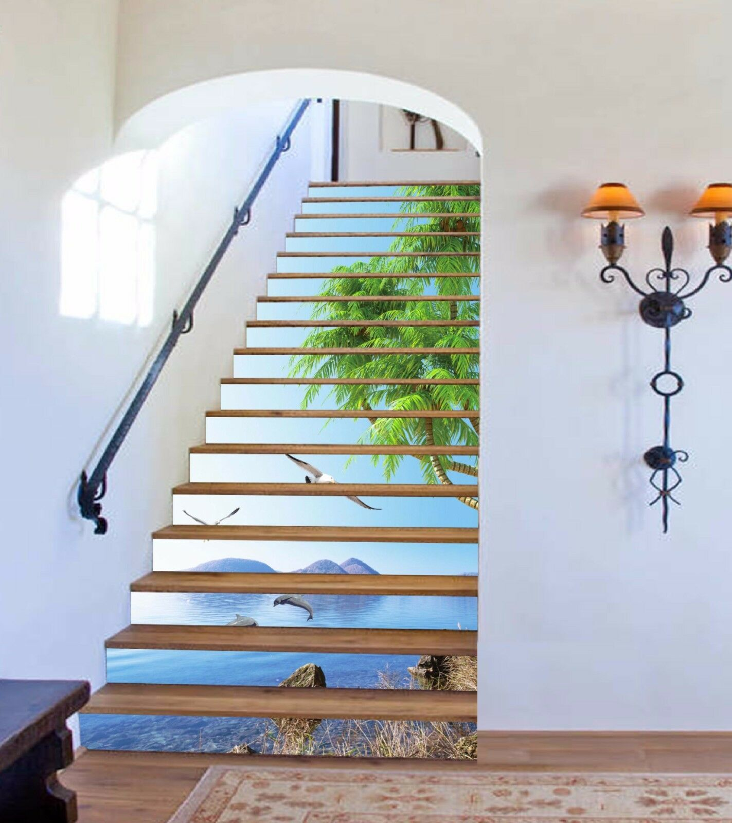 3D Sea Scenery 725 Stair Risers Decoration Photo Mural Vinyl Decal WandPapier AU