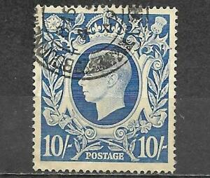 Great Britain 1942 Stamp Scott #251A King George VI 10sh Used