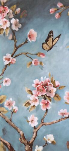 Flower Bird Art Canvas Poster Modern Fabric Oil Paint Wall Decor No Frame S242