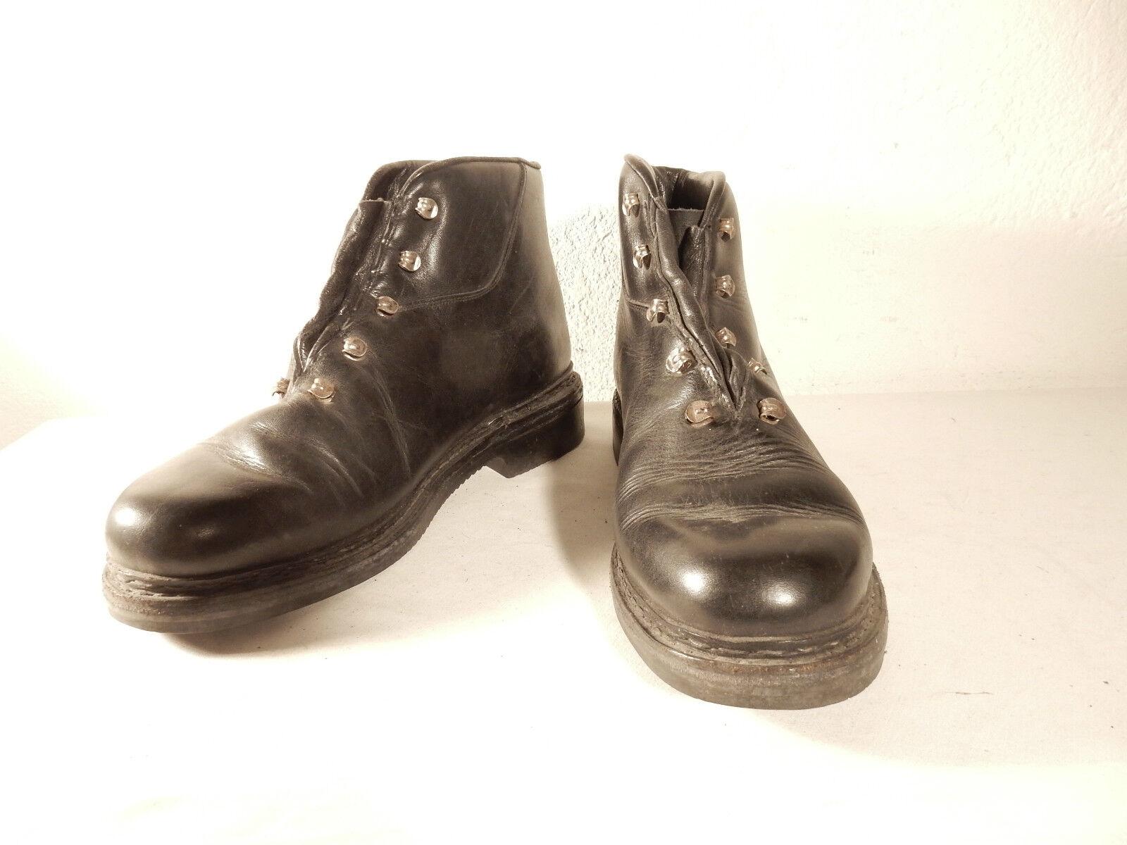 Cómodo y bien parecido Vintage workers talla 43 negro botas semi botas botas del ejército