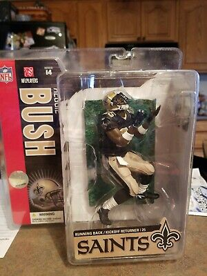 NEW 2008 McFarlane NFL Reggie Bush #25 New Orleans Saints Series 17 Figure