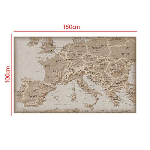 Ретро винтаж искусство Европа карта печать большие плакат настенного декора образование школа