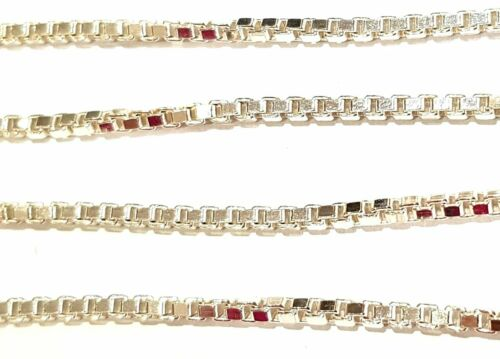 2mm VARIOUS LENGTHS GENUINE 925 STERLING SILVER CHUNKY BOX LINK NECKLACE