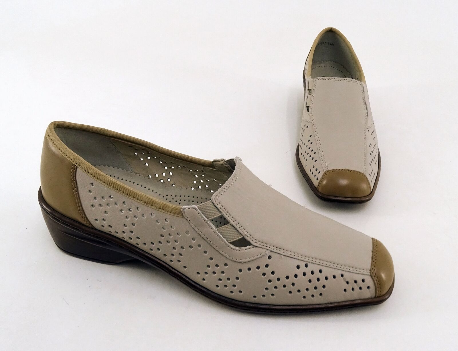 Slipper Jenny by Ara shoes Air Cushion Real Leather Beige Size 7,5 = 40,5 W  G