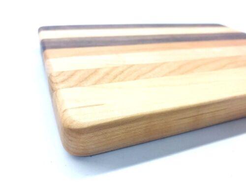 "Handcrafted Wooden Cutting Board Cherry Maple 9/"" x 6/"" x 3//4/"" Walnut"