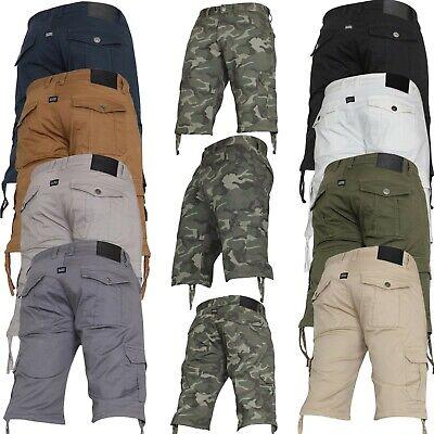 New Kruze Jeans Mens Camo Combat Cargo Shorts Casual Work Camouflage Half Pants