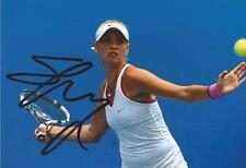 TENNIS: FANNY STOLLAR SIGNED 6x4 ACTION PHOTO+COA *WIMBLEDON* **PROOF**