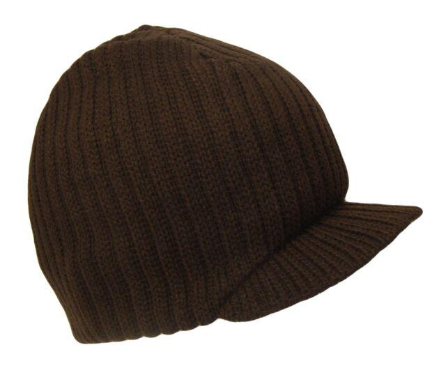 Navy Blue Campus Beanie Cap Knit Skully Winter Hat Radar Style Jeep Ski Brimmed