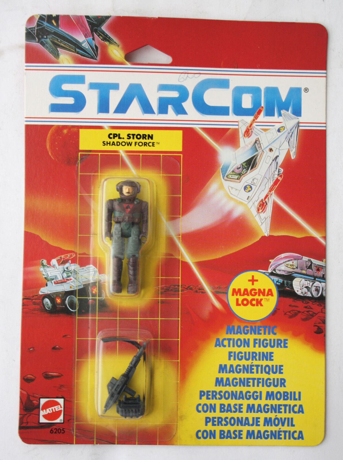 RARE VINTAGE 1990 STARCOM CPL STORN SHADOW FORCE MATTEL NEW SEALED