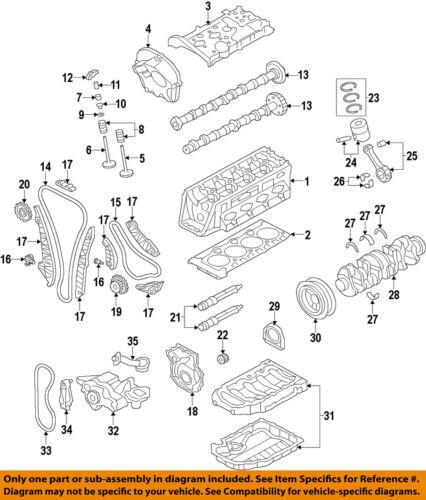 VW VOLKSWAGEN OEM 09-17 CC-Engine Cylinder Head Gasket 06H103383AF
