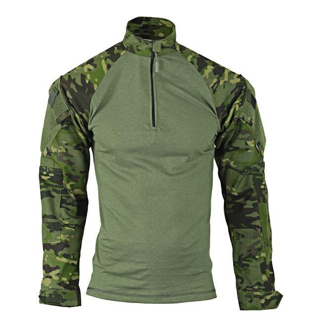 MultiCam Tropic Camo 1/4 Zip Tactical Combat Shirt by TRU-SPEC 2537 / FREE SHIP