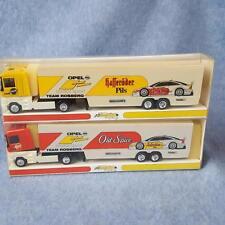 Minichamps 1:87 Model Team Rosberg Old Spice Truck Race Car Transporter Lot of 2