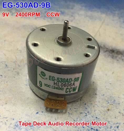 EG-530AD-9B 9V 2400RPM Grabadora de plataforma cinta CCW Cabrestante Motor Audio del motor del eje