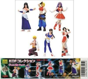 Set 6 Figure King of Fighters Kof Part 1 Retro Videogames Japan Yujin Gashapon