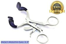 1pc New Or Molt Mouth Gag 35 With Silicone Tips Dental Instruments Premium
