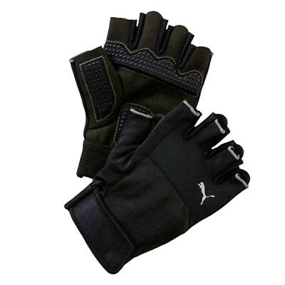 Puma TR Strap Up Fingerless Unisex Ventilated Padded Palm Gloves 041296 01 UW43