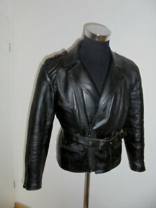 vintage-Motorradjacke-Lederjacke-70s-biker-oldschool-festival-punk-jacket-48-M
