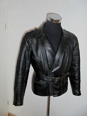 Vintage Moto Giacca Giacca Di Pelle Biker 70s Oldschool Festival Punk Jacket 48 M-mostra Il Titolo Originale