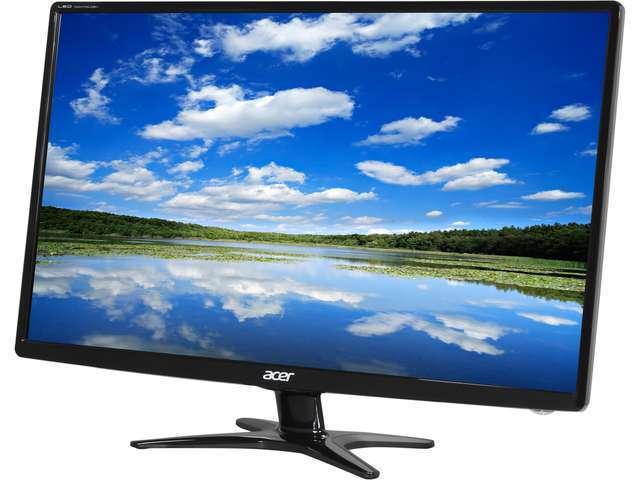 """Acer G6 G276HLGbd Black 27"""" 6ms Widescreen LED Backlight Slim Bezel Monitor"""