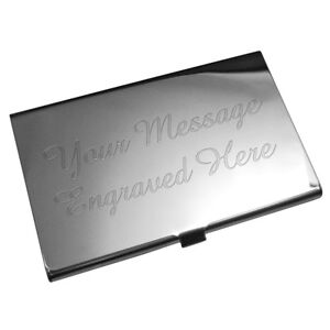 Engraved business card holder company present personalised gift free image is loading engraved business card holder company present personalised gift reheart Gallery