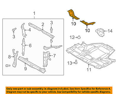 SUBARU OEM Legacy Radiator Core Support-Lower Tie Extension Right 51231AJ00A9P