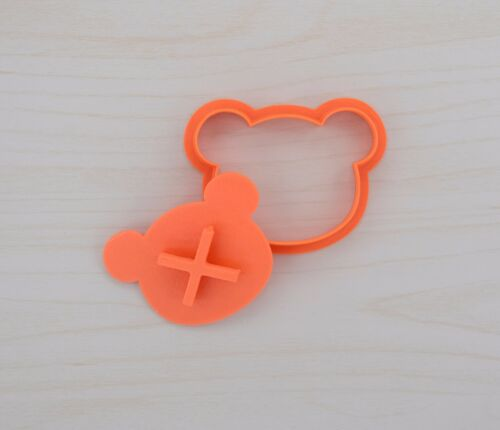 Teddy Bear Head Cookie Cutter and Stamp Set