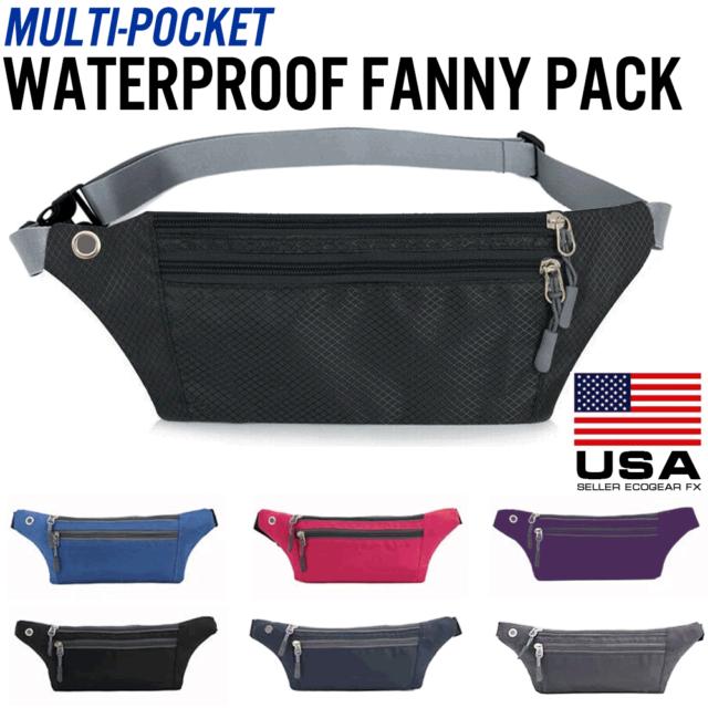 Travel Belt Bag,Utility Hip Bag,Gray Fanny Pack,Waist Pocket Pack,Hiking Women Gear