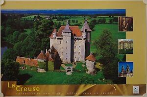 Affiche Tourisme La Creuse Château De Villemonteix -