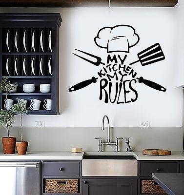 Vinyl Wall Decal Kitchen Quote Chef Restaurant Stickers Mural Ig3705 Ebay