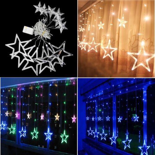 Étoiles scintillantes de Noël chaîne lumière fenêtre Fée lampe Party décoration 3 m