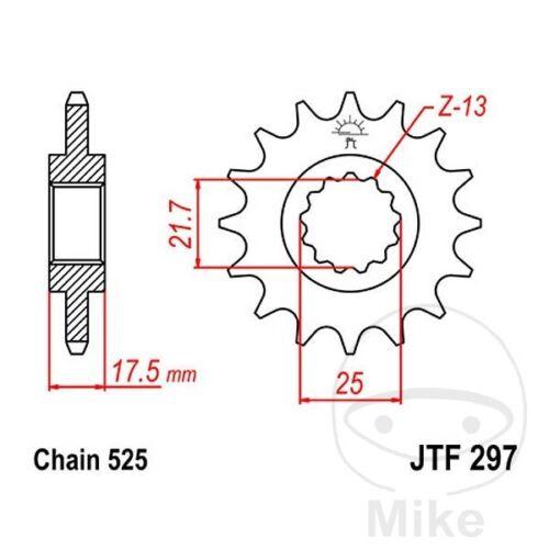 Division 525 jtf297.14 JT Moto Pignon 14 dents