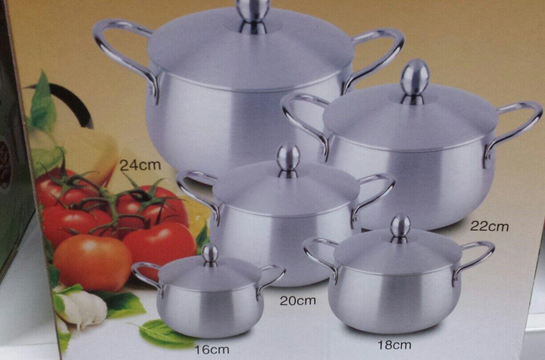 Ovale 10PC Pot Set Aluminium Casserole Cuisson Pan Casserole 10PC Ovale Set 951637