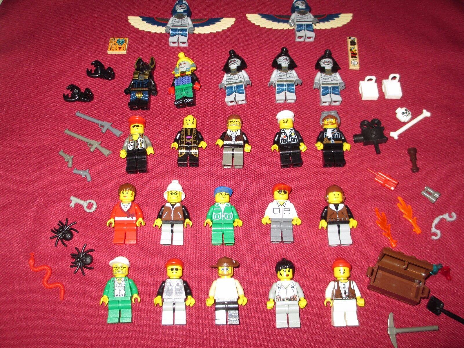 LEGO Pharaoh's Quest Minifigures LOT Pharaoh,Mummies,Explorers,Guns,Snake +more